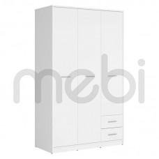 Шкаф Nepo Plus Black Red White 119х197x55 (NEPO_PLUS_SZF3D2S) 000097