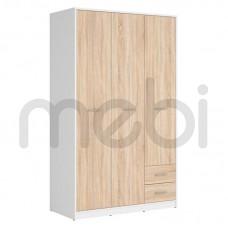 Шкаф Nepo Plus Black Red White 119х197x55 (NEPO_PLUS_SZF3D2S) 010610
