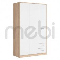 Шкаф Nepo Plus Black Red White 119х197x55 (NEPO_PLUS_SZF3D2S) 010611