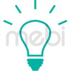 3x Listwa LED + półki szklane Latzke (HER_OSW_LED_W-1d/sz) 067086