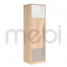Шкаф Namek Black Red White 60х198.5x52.5 (NAMEK_SZF1D) 006435