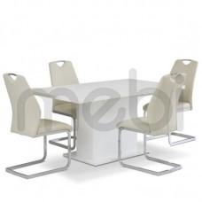 Комплект стол EST42 i krzesła Angalo Forte 90х77x160 (EST42_KR0110-MET-YBS06) 037244