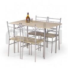 Комплект стол и 4 стула Faust Halmar 70х75x110 (V-CH-FAUST-ZESTAW) 060373