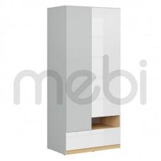 Шкаф Nandu Black Red White 90х200.5x55 (S441-SZF2D1S) 065383