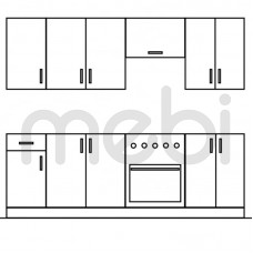 240 Кухня Gała Meble Gała Meble 240хx (KGM_ZES_240) 066126